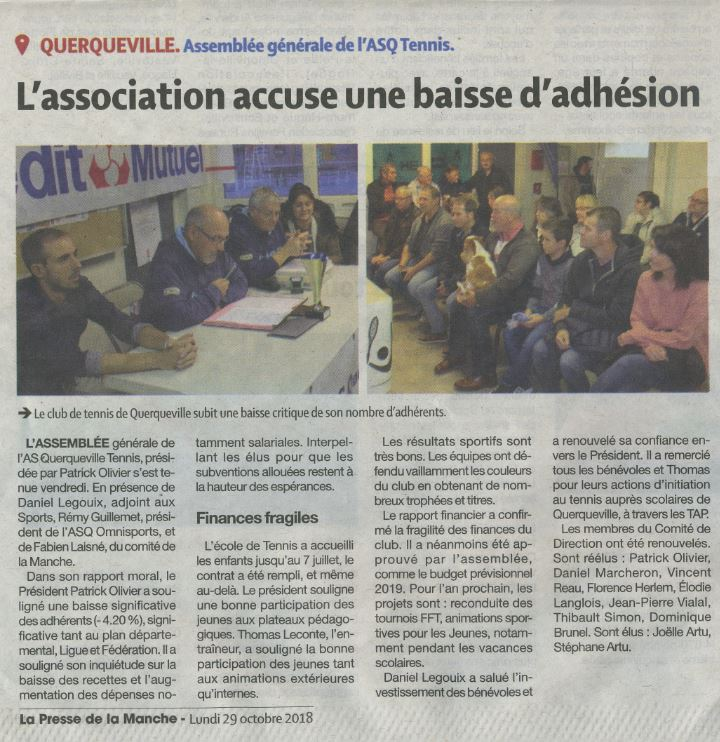 Article presse AG 2018