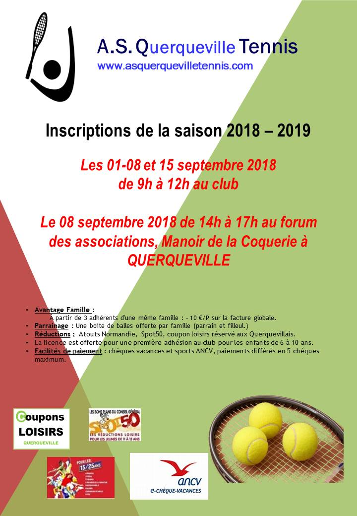 Affiche inscriptions 2018 2019