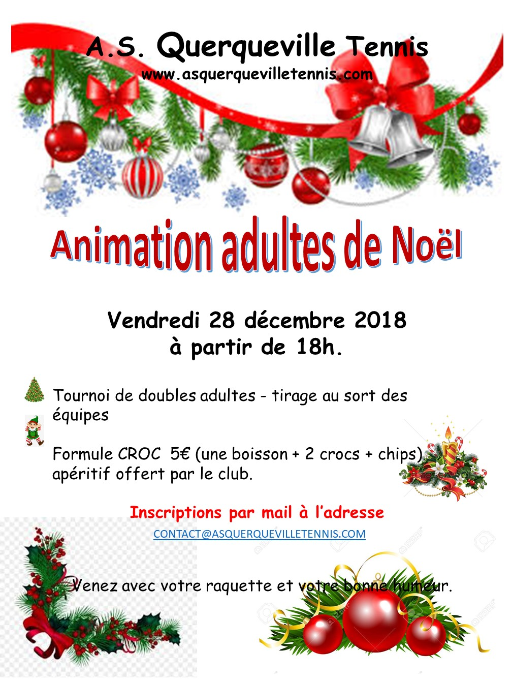 Affiche animation adulte Noël